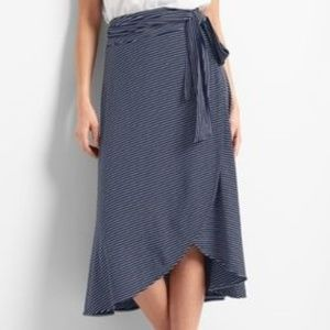 GAP Jersey Knit Striped Wrap Skirt